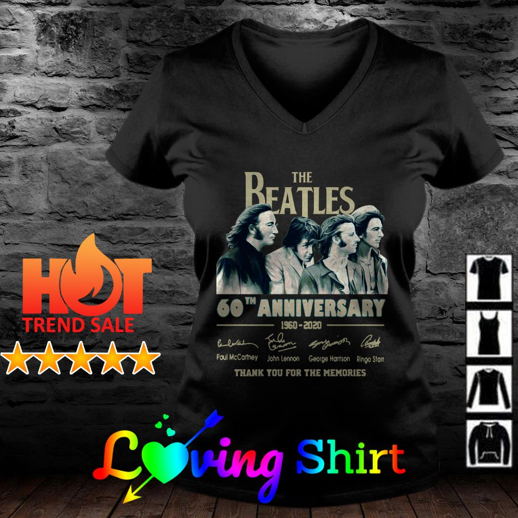 The Beatles 60th anniversary 1960 2020 thank you for the memories shirt