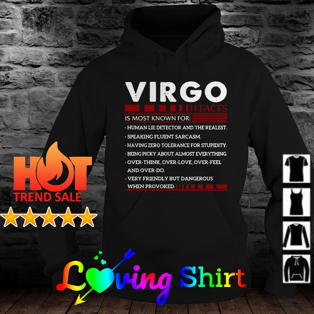 Virgo facts is most known for human lie detector and the realest shirt