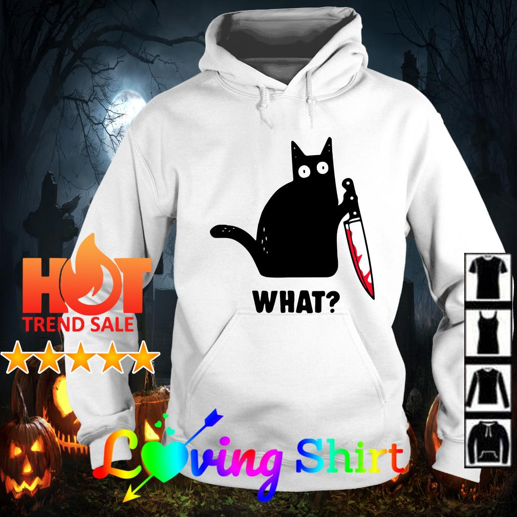 Cat What Funny Black Cat shirt