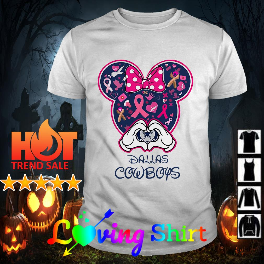 Disney Mickey Mouse heart Dallas Cowboys shirt