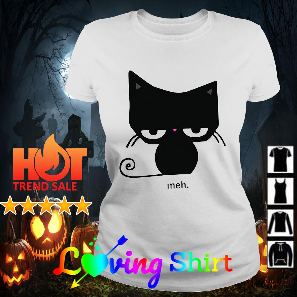 Halloween black cat meh shirt