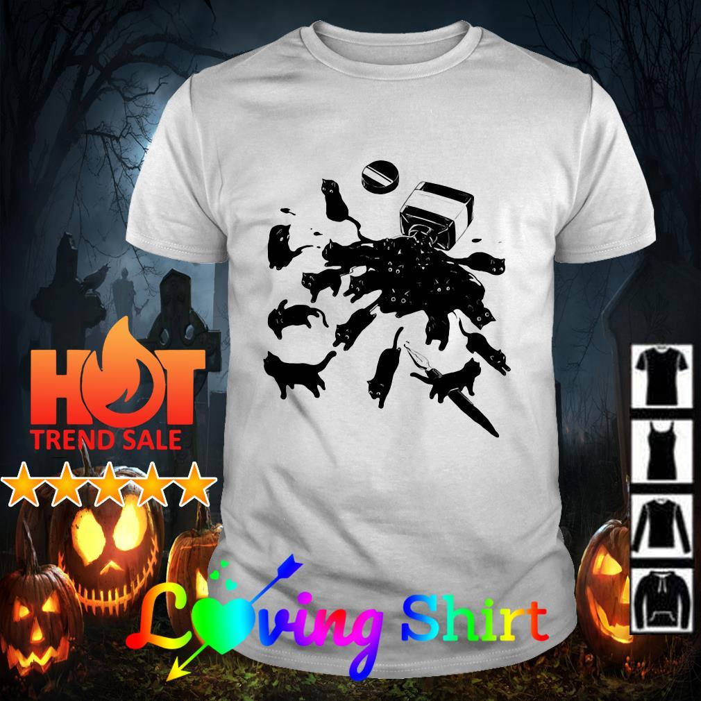 Halloween Cats Escaping Ink Bottle shirt