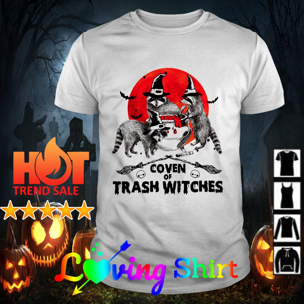 Halloween Raccoon coven of trash witches shirt