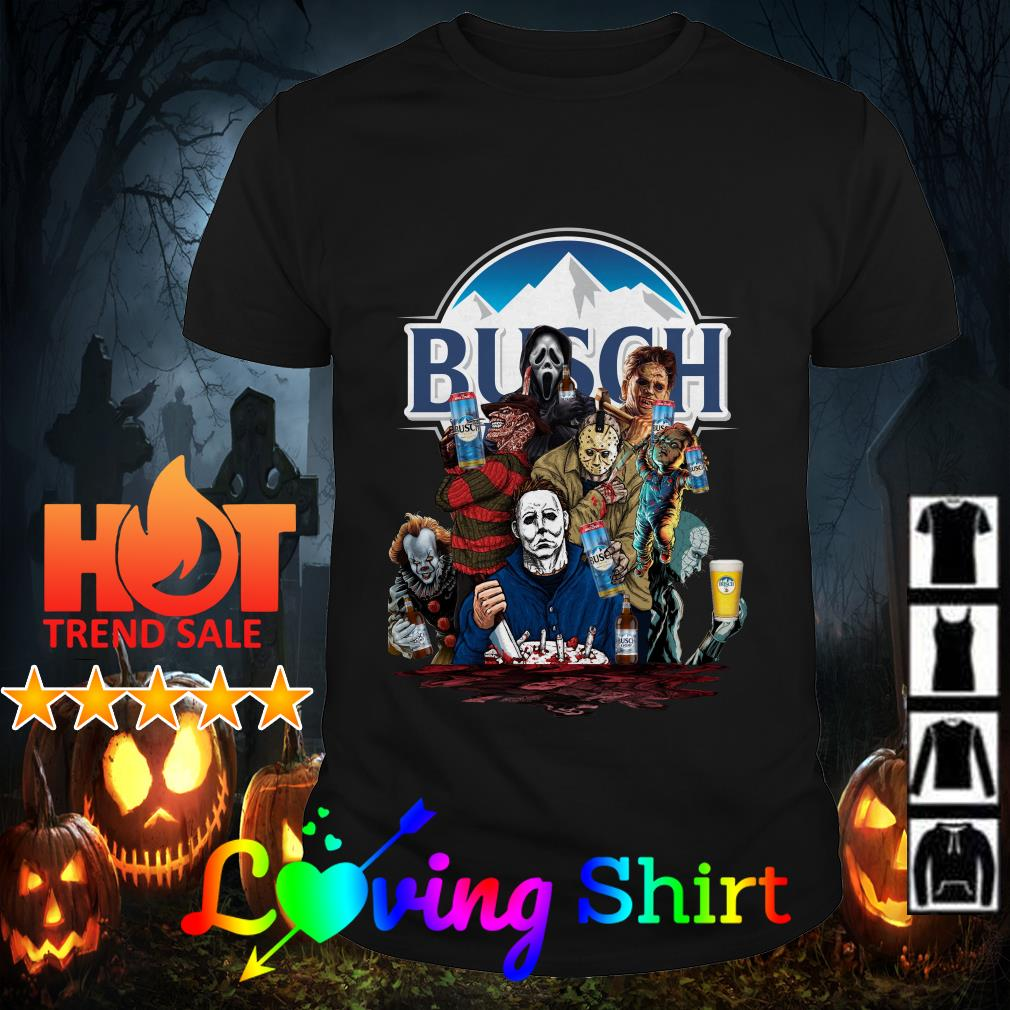 Horror Characters drink Busch Light shirt