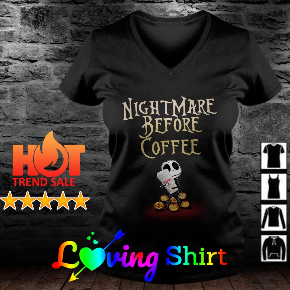 Jack Skellington hug Dunkin' Donuts nightmare before coffee shirt