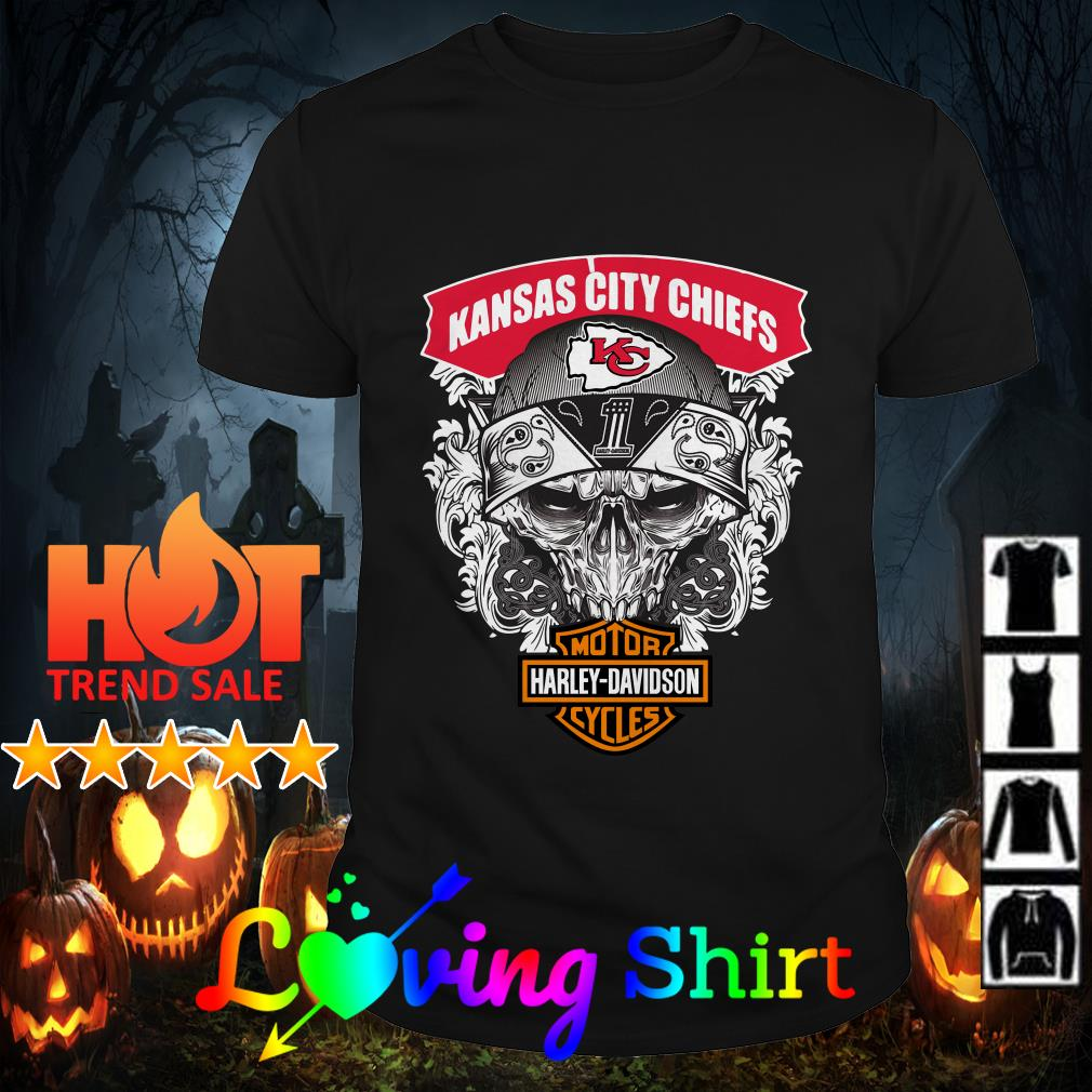 Skull Kansas City Chiefs Harley-Davidson shirt