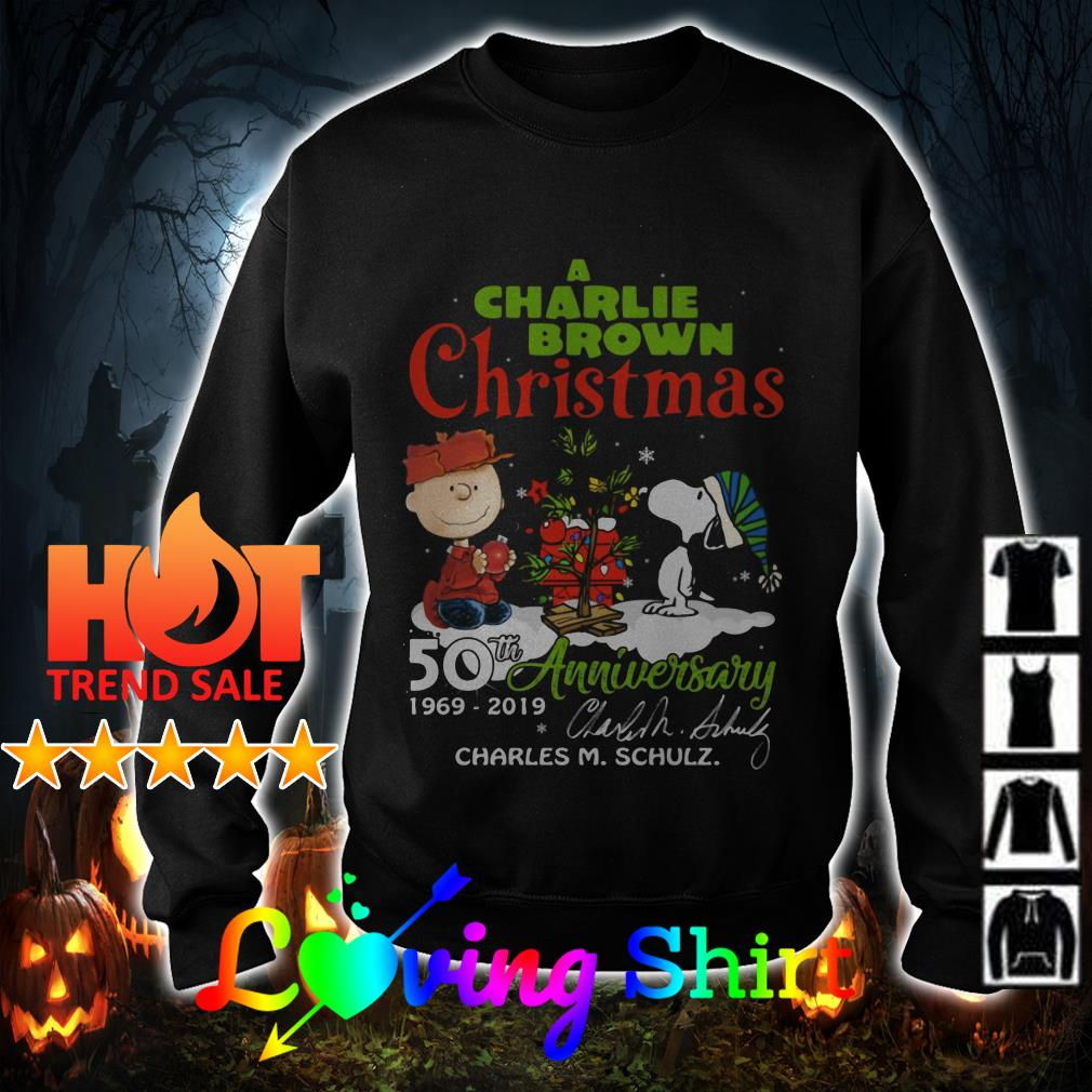 When Is Charlie Brown Christmas On.A Charlie Brown Christmas 50th Anniversary 1969 2019 Signature Sweater
