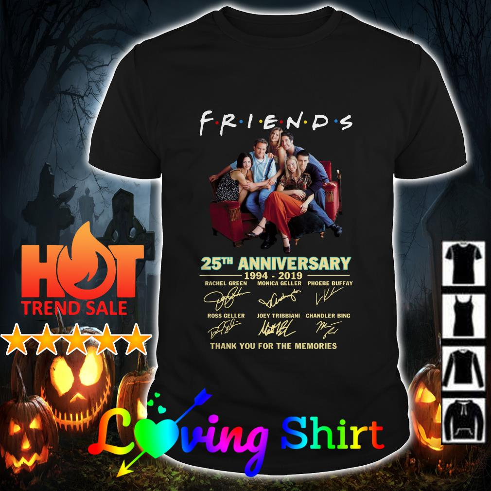 Friends TV Show 25th Anniversary 1994-2019 signatures shirt