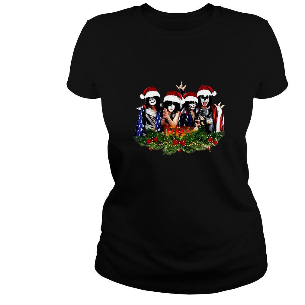 Kiss Rock Santa Christmas ugly sweater