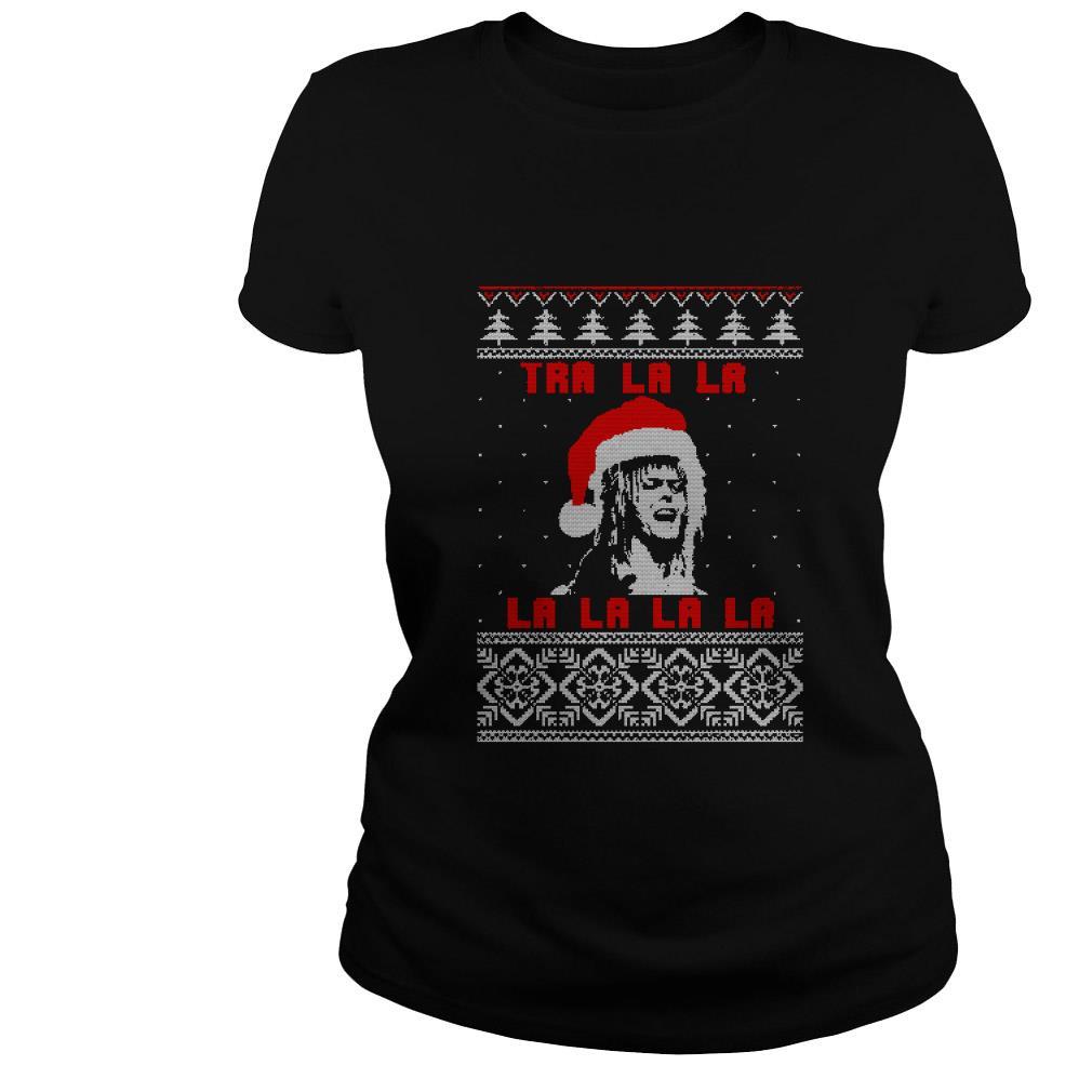 Jareth Labyrinth Tra la la la la la Christmas ugly sweater