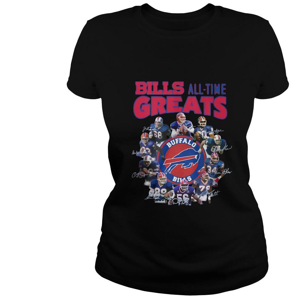 Buffalo Bills all time greats signatures shirt