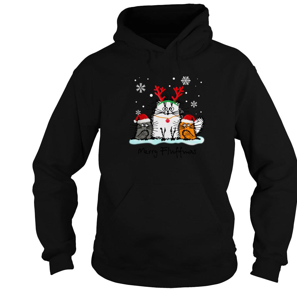 Cat Merry Fluffmas Christmas ugly sweater