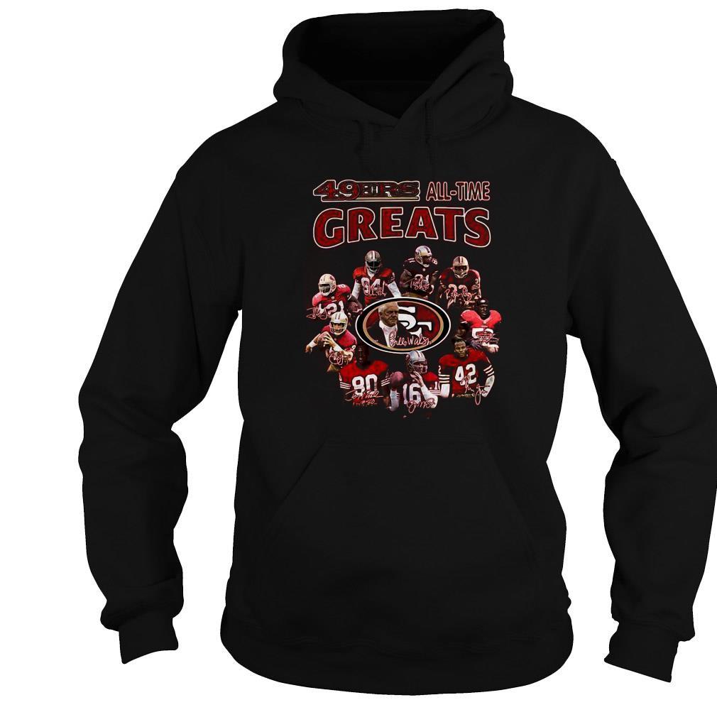 San Francisco 49ers all time greats signatures shirt