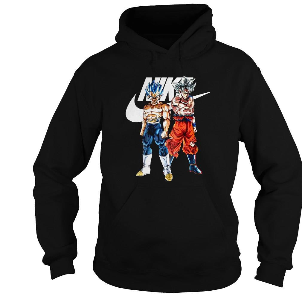 Nike Dragon Ball Goku and Vegeta shirt