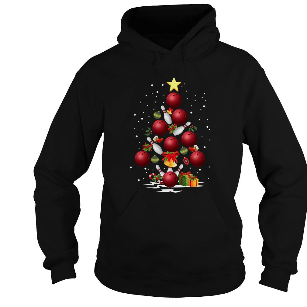 Bowling Christmas tree sweater