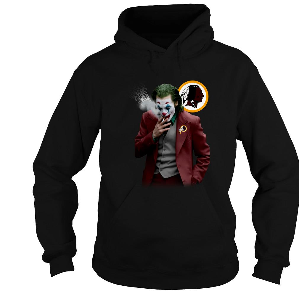 Joker Joaquin Phoenix Washington Redskins shirt
