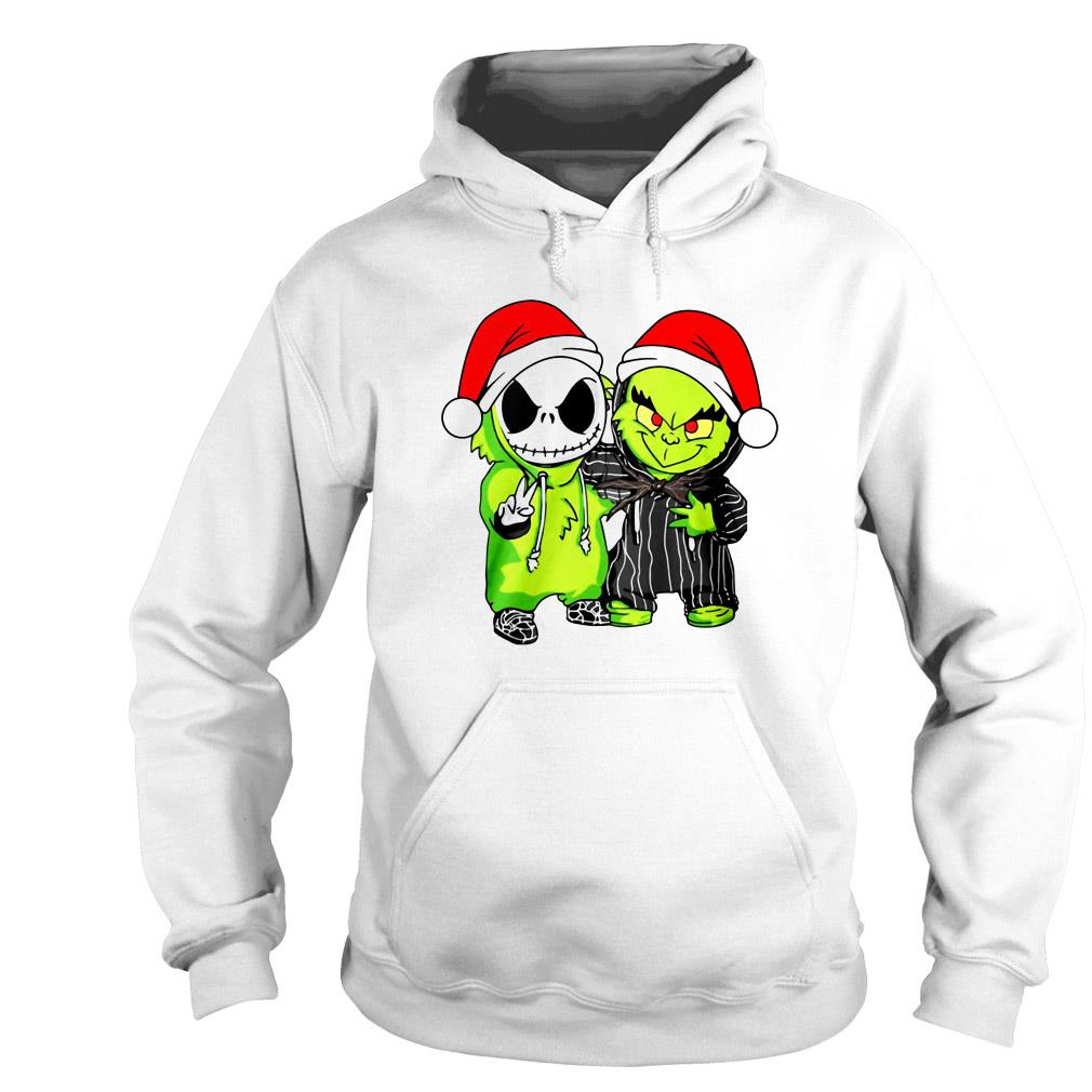 Baby Jack Skellington and Grinch Christmas sweater