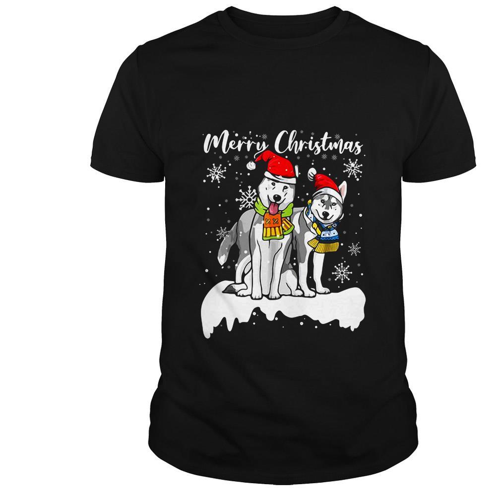 Merry Christmas Santa Siberian Husky ugly sweater
