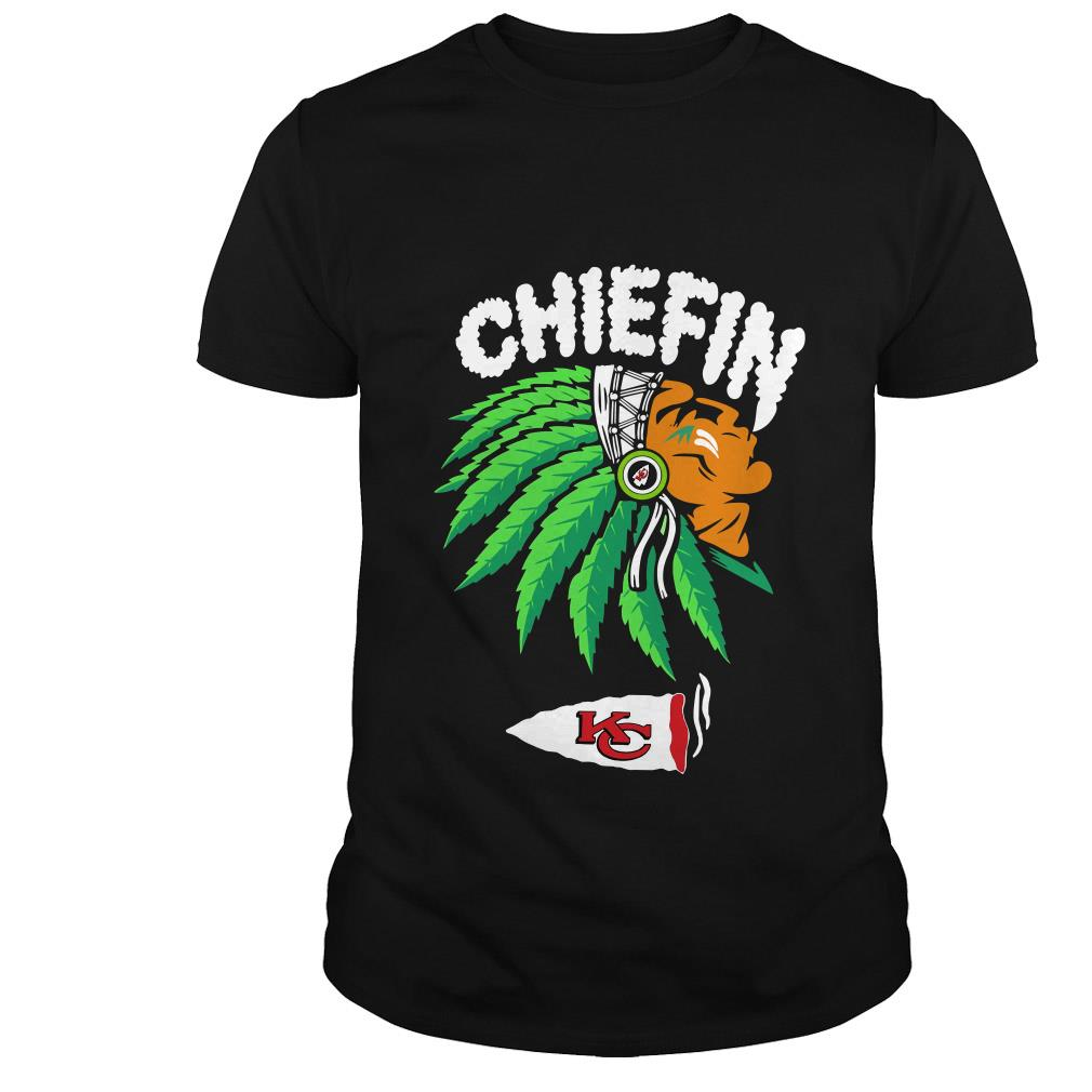 Kansas City Chiefs Chiefin weed smoking Indian shirt
