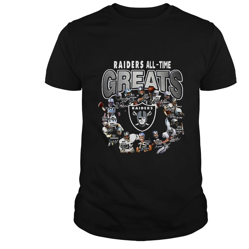 Oakland Raiders all time greats signature shirt