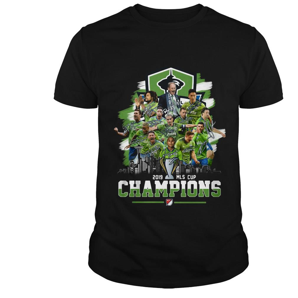 Seattle Sounders FC Major League Soccer MLS CUP 2019 champions signature shirt