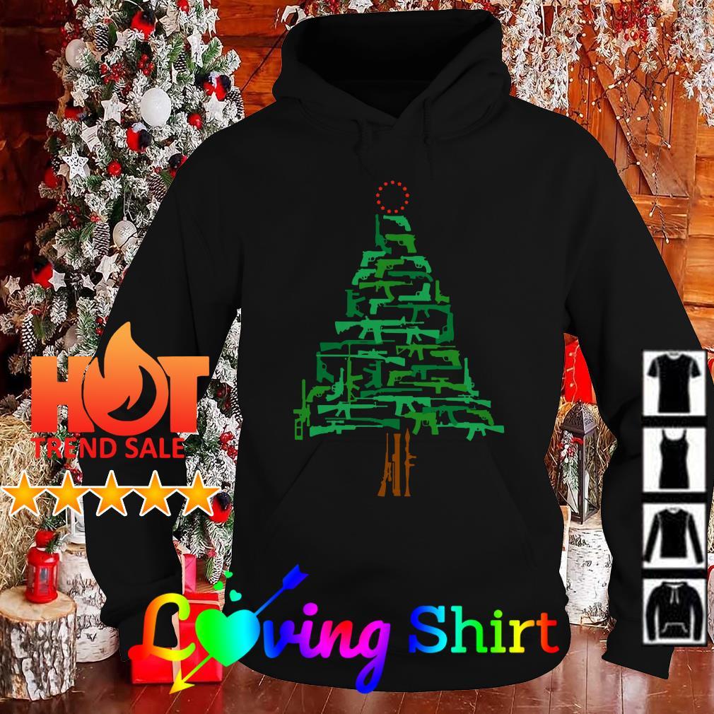 Christmas Tree Green Gun Sweater, shirt, hoodie and v-neck t-shirt