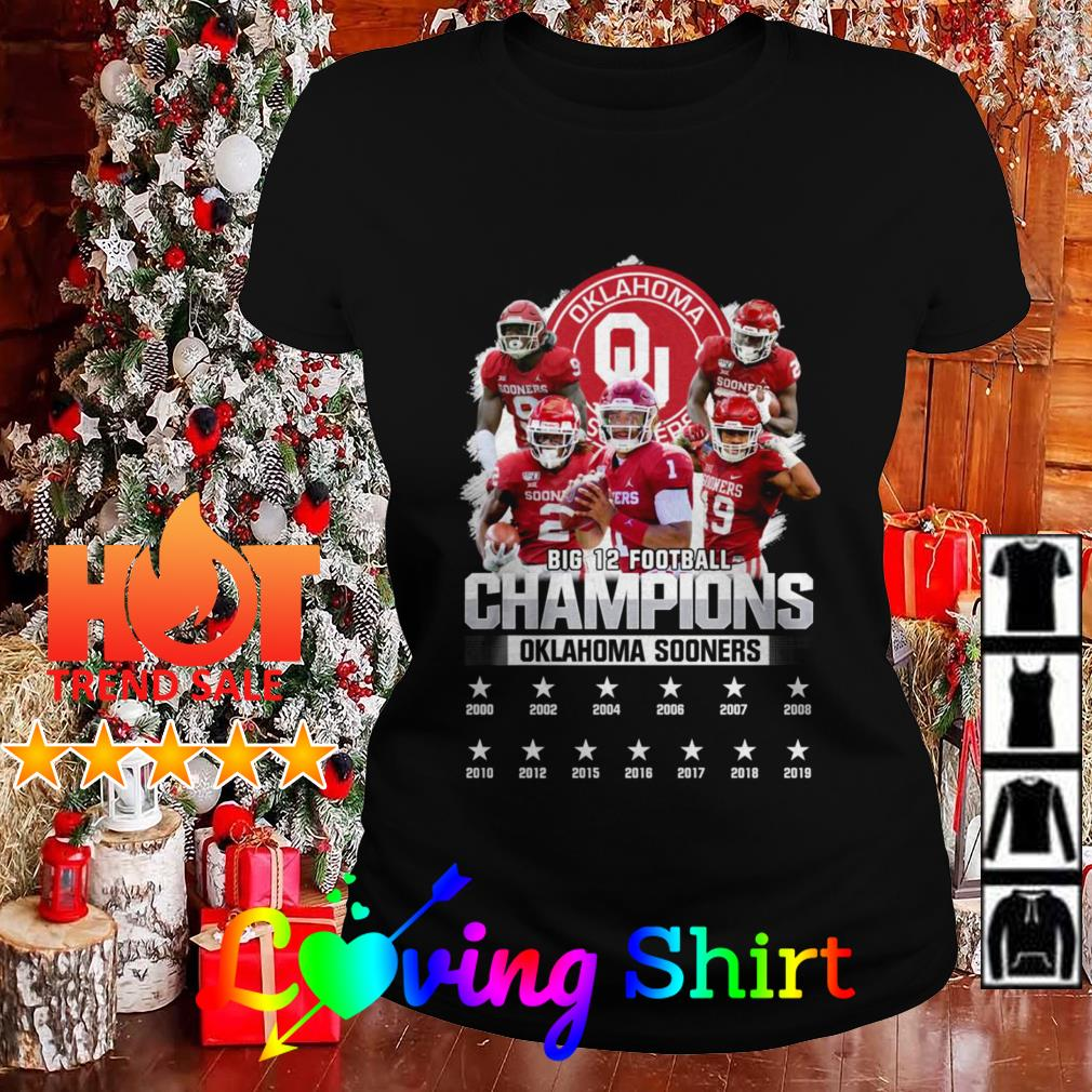 Big 12 football Champions Oklahoma Sooners shirt, hoodie ...