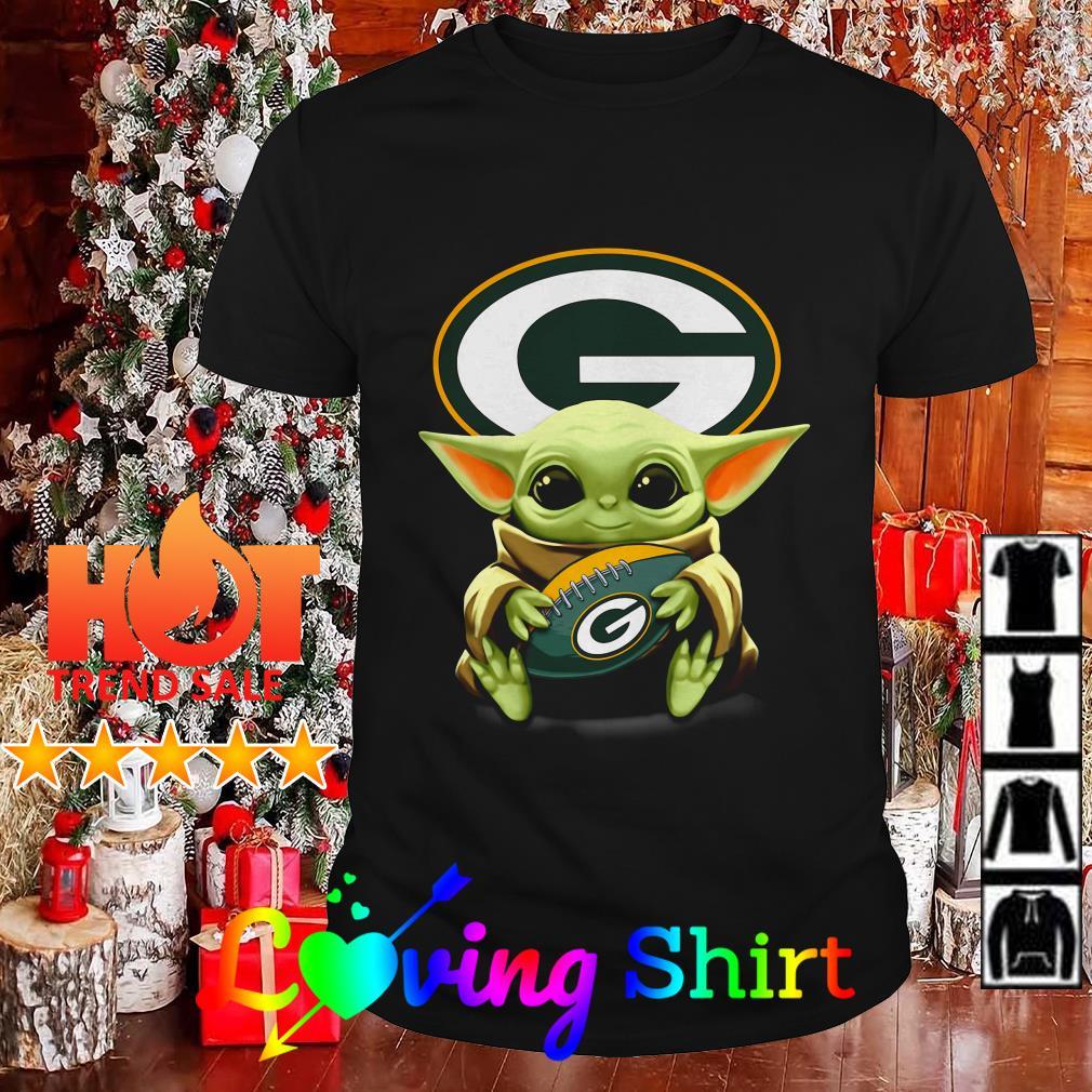 Star Wars Baby Yoda Hug Green Bay Packers Shirt Hoodie Sweater