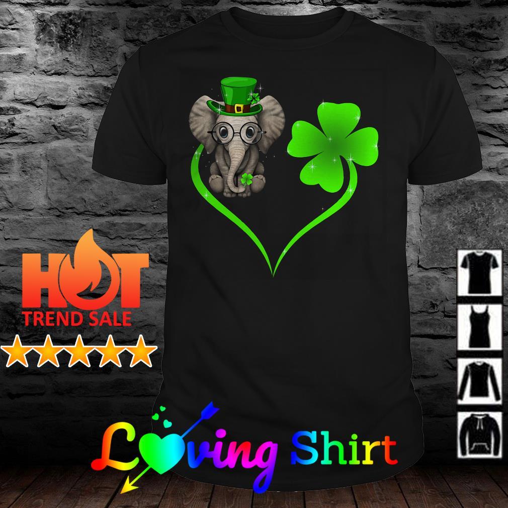 St. Patrick's Day Elephant Clover heart shirt