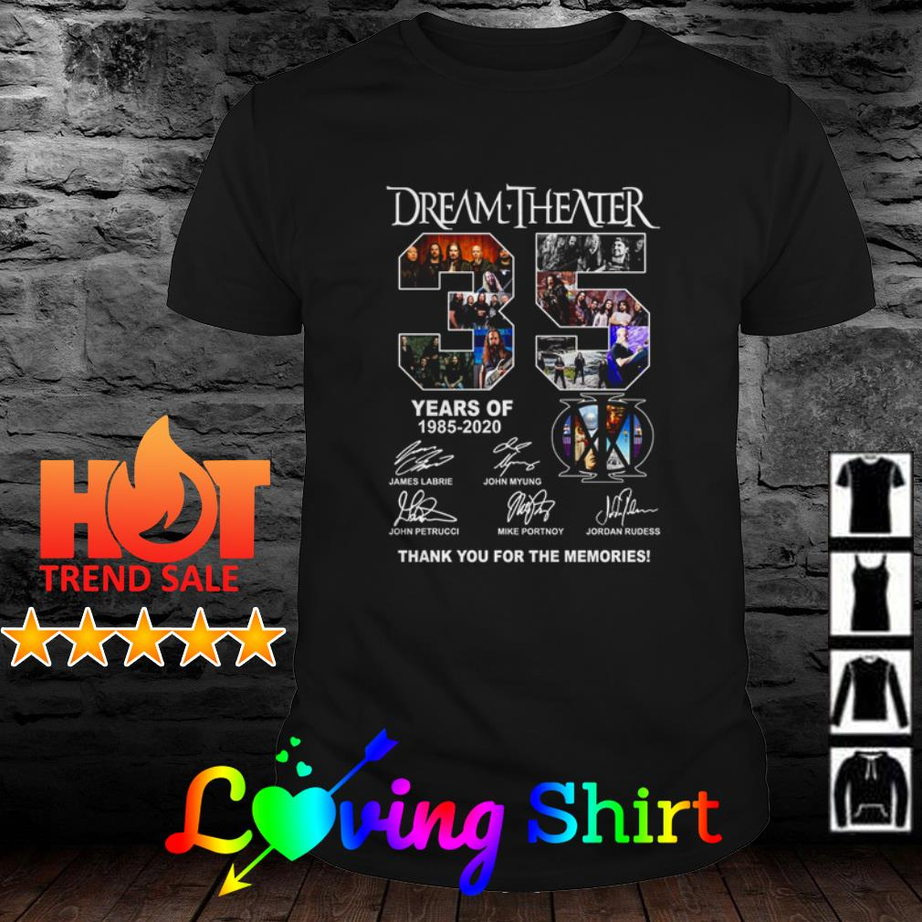 35 Years of Dream Theater 1985-2020 all members signatures shirt