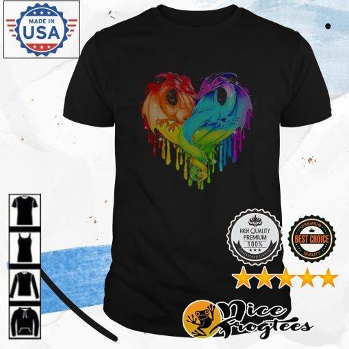 LGBT Pride heart Dragon shirt