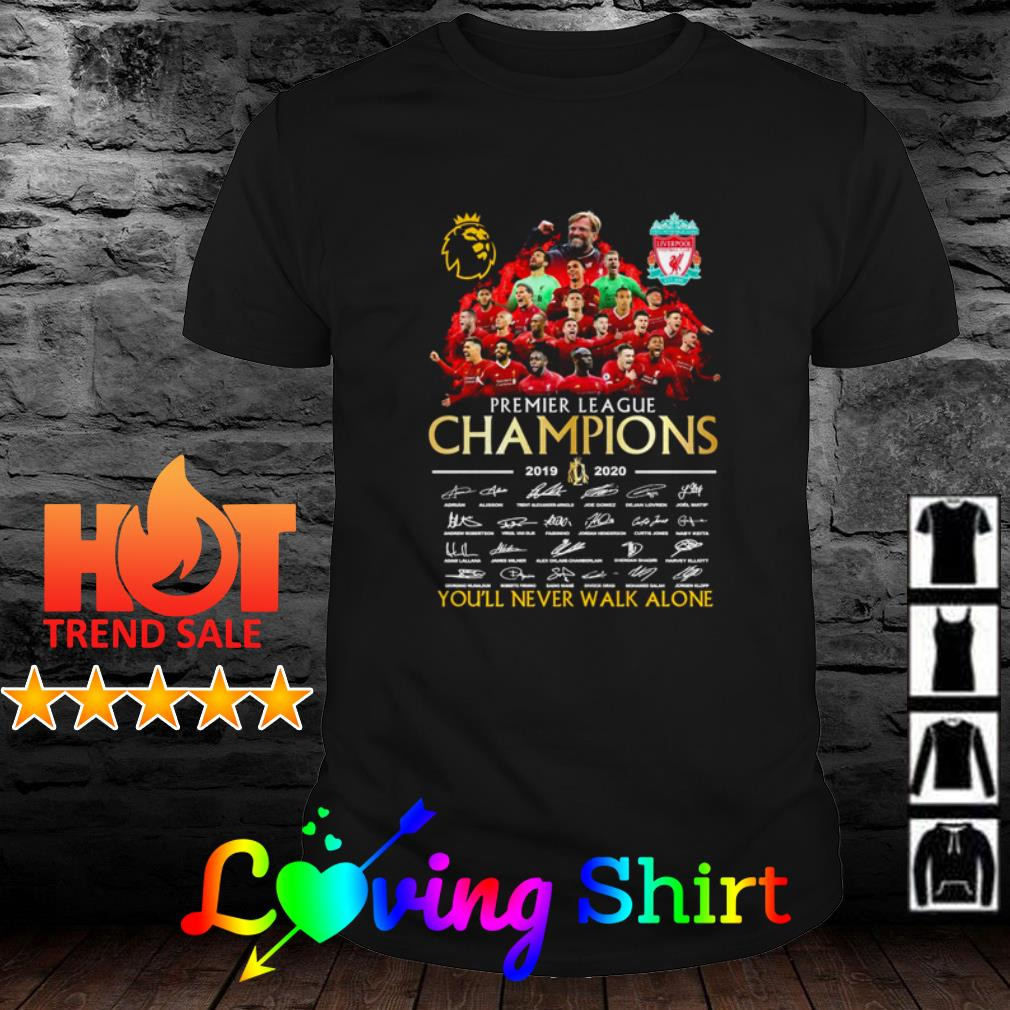 Liverpool premier league Champions 2019 2020 all members signatures shirt