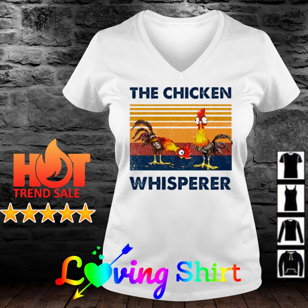 The chicken whisperer vintage s v-neck-t-shirt