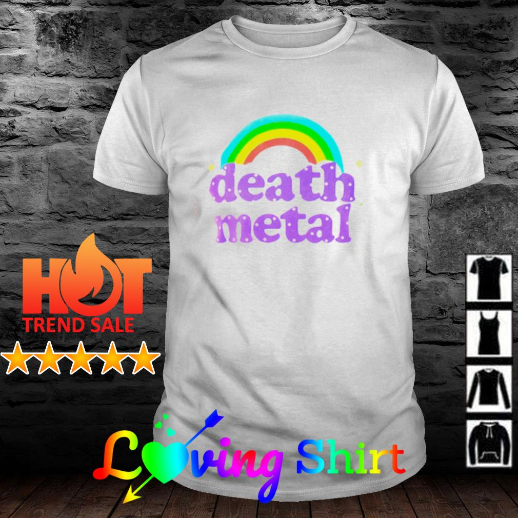 Rainbow death metal shirt