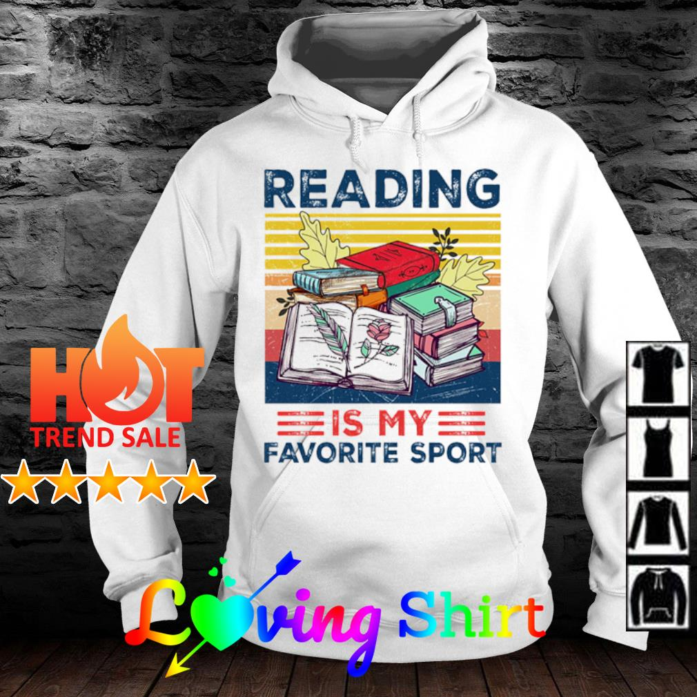 Reading is my favorite sport vintage s hoodie