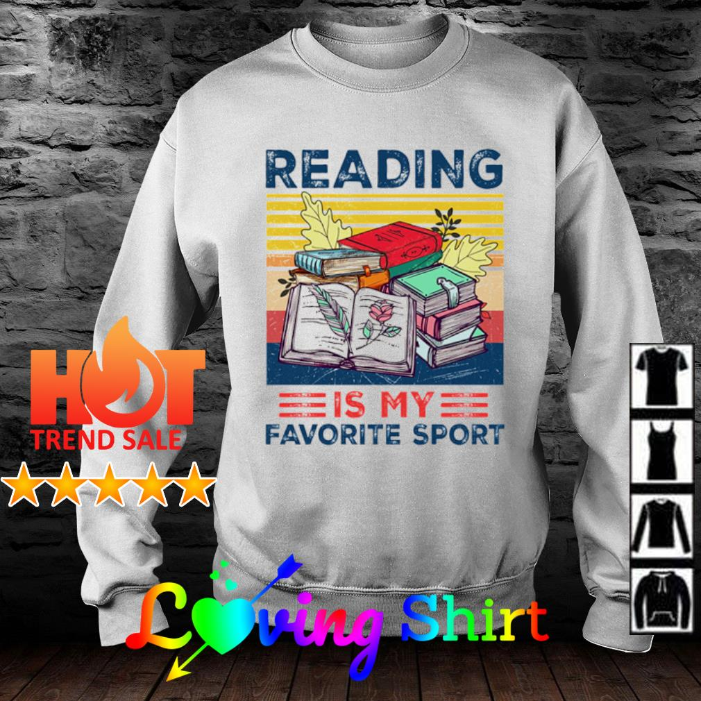 Reading is my favorite sport vintage s sweater