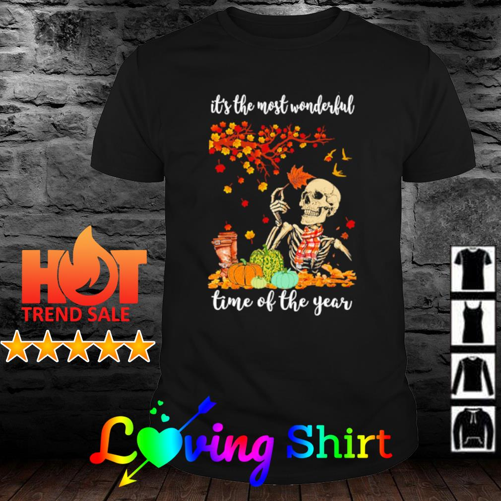 Skeleton it's the most wonderful time of the year shirt