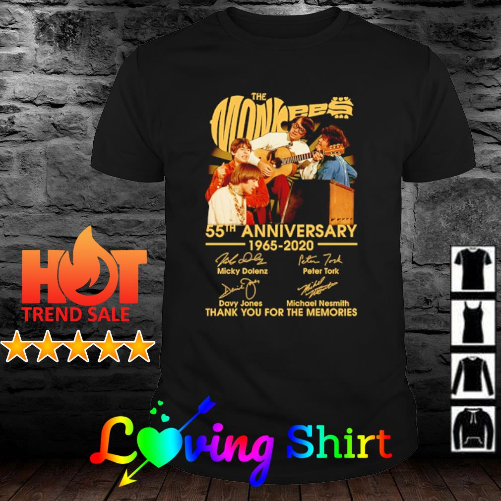 The Monkees 55th anniversary 1065 2020 thank you for the memories shirt