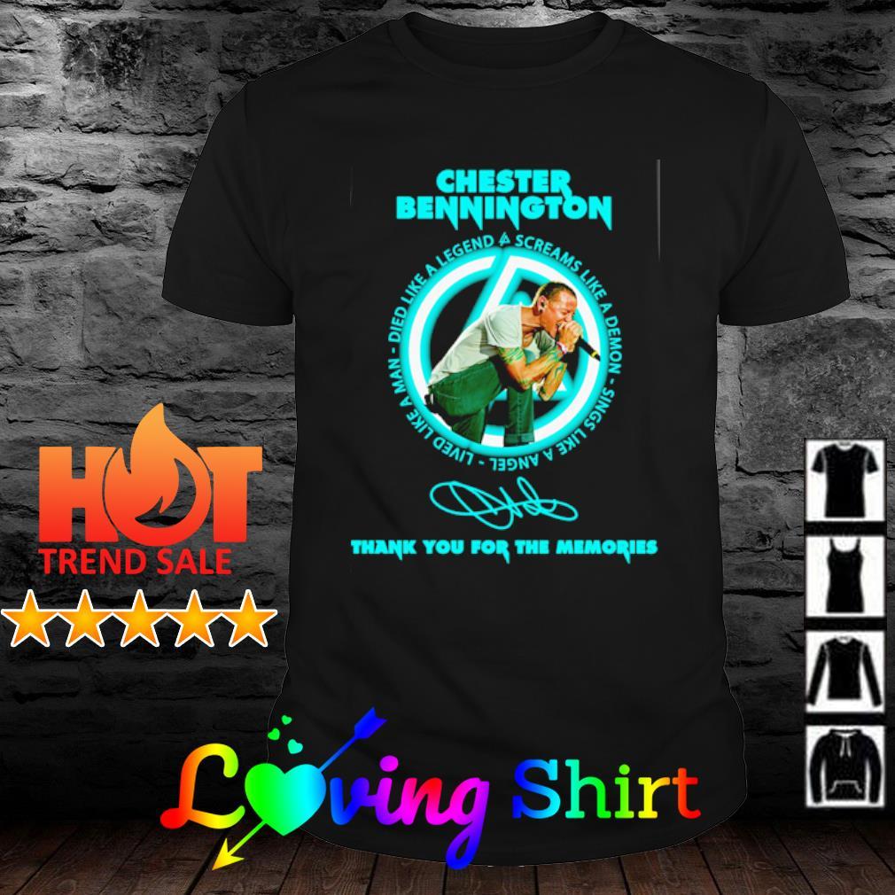 Chester Bennington thank you for the memories shirt