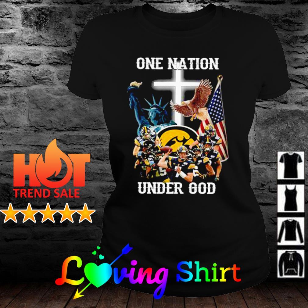Iowa Hawkeyes one nation under god s ladies-tee