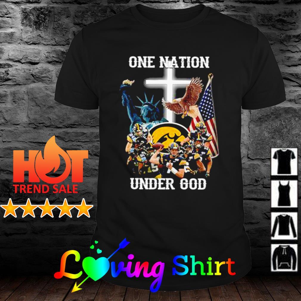 Iowa Hawkeyes one nation under god shirt