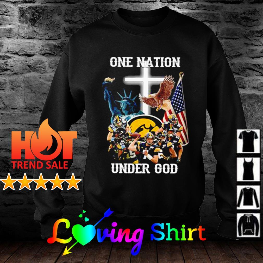 Iowa Hawkeyes one nation under god s sweater