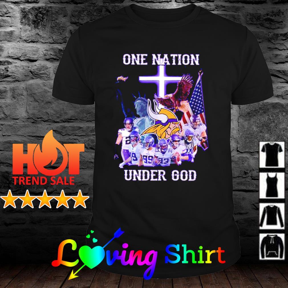 Minnesota Vikings one nation under god shirt