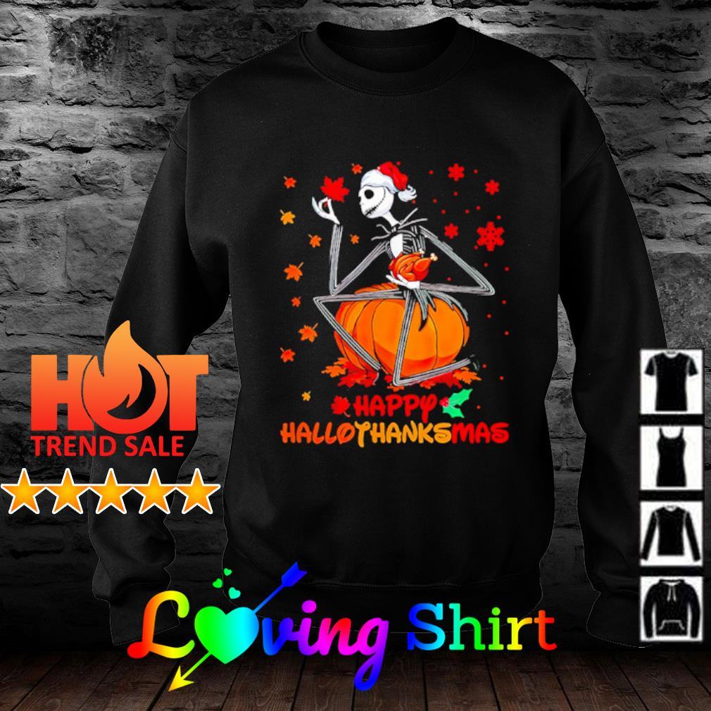 Jack Skellington happy HalloThanksMas shirt