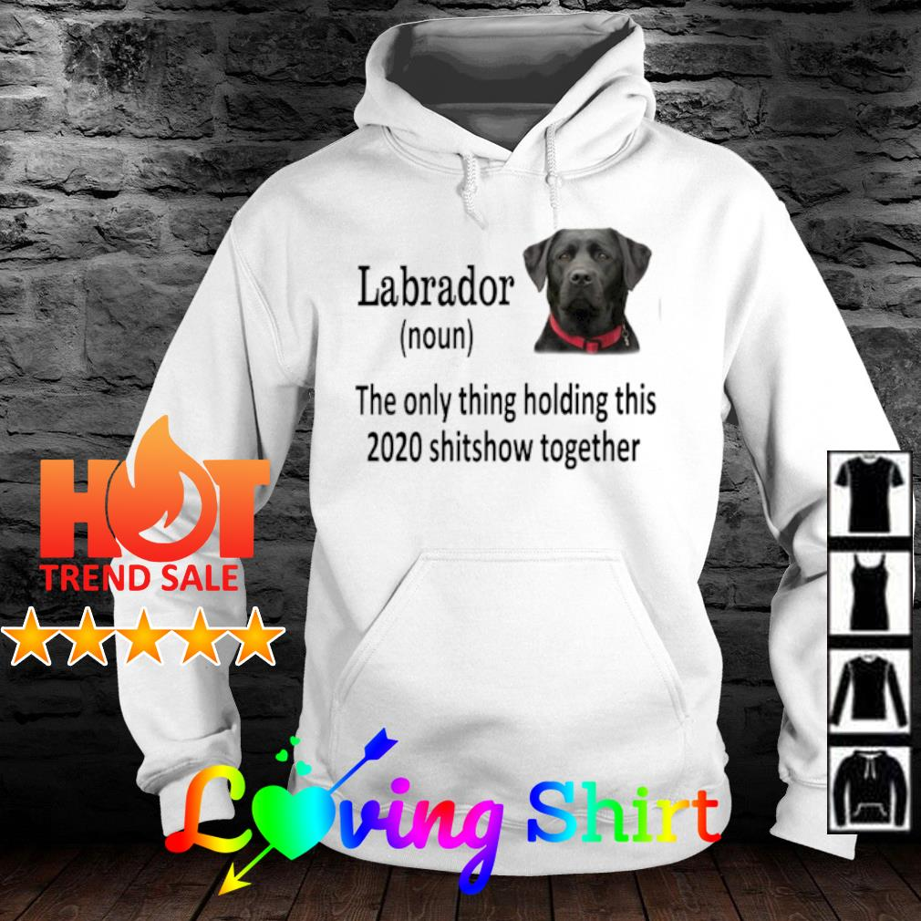 Labrador the only thing holding this 2020 shitshow together s hoodie