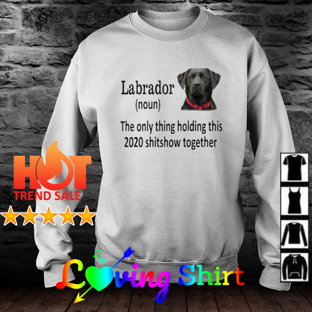 Labrador the only thing holding this 2020 shitshow together s sweater