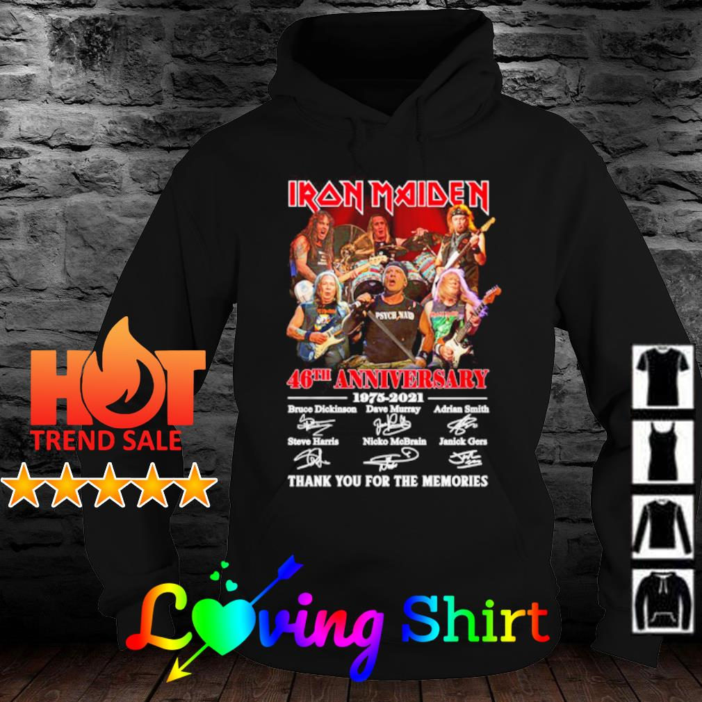 Iron Maiden 46th anniversary 1975 2021 thank you for the memories s hoodie