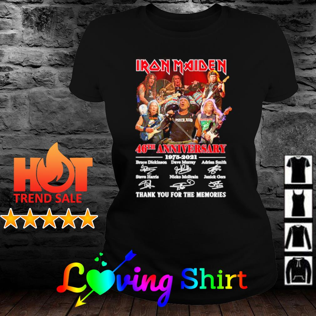 Iron Maiden 46th anniversary 1975 2021 thank you for the memories s ladies-tee