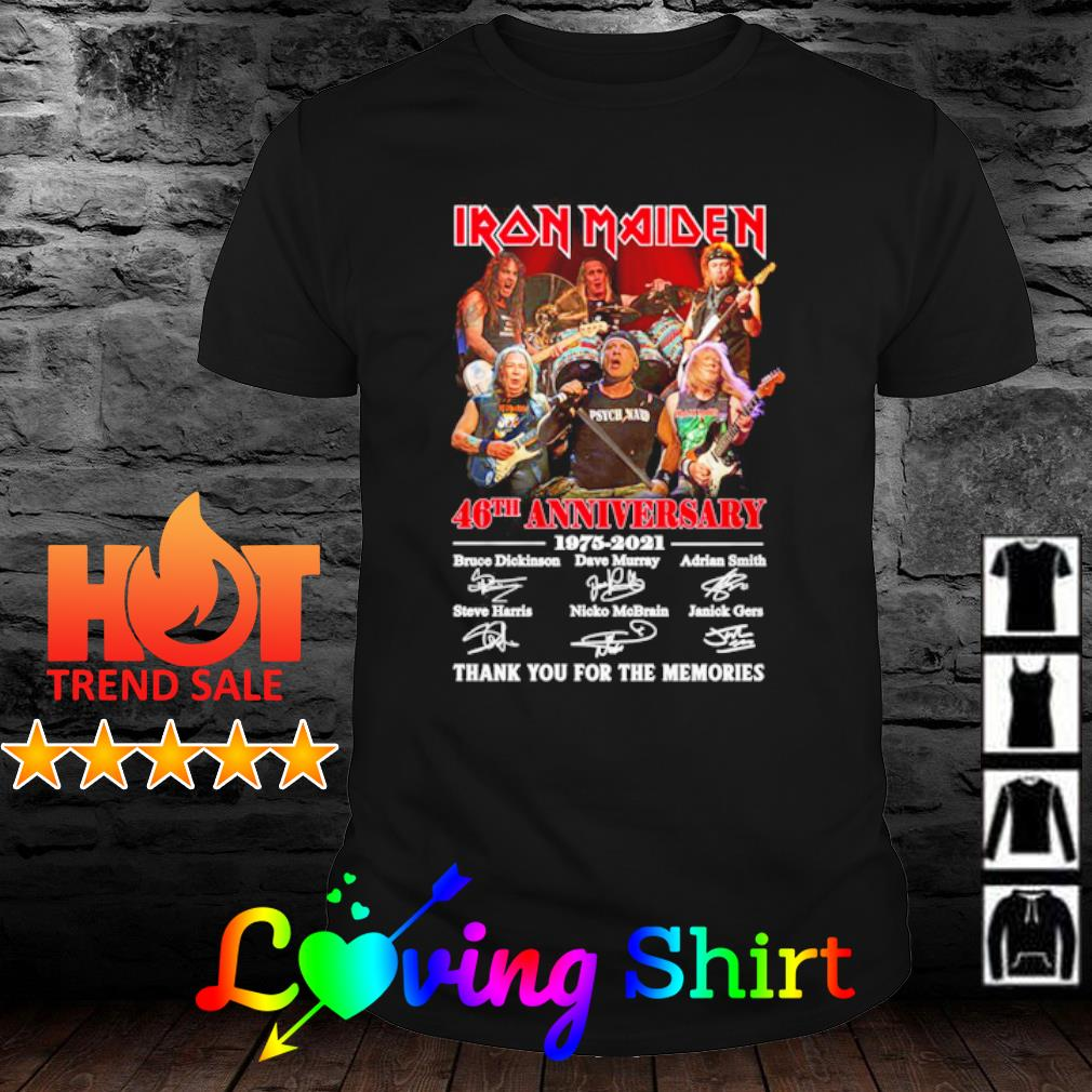 Iron Maiden 46th anniversary 1975 2021 thank you for the memories shirt