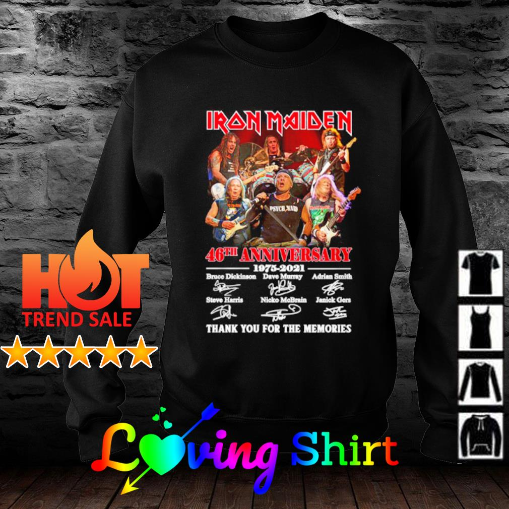Iron Maiden 46th anniversary 1975 2021 thank you for the memories s sweater